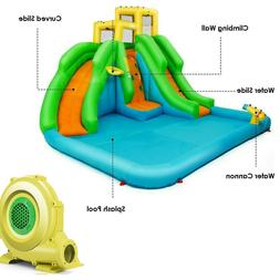 water slide inflatable bounce house with blower