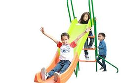 SLIDEWHIZZER Indoor Outdoor Kids Playground Slide; 8-FT Free