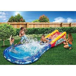 Banzai Wave Crasher Surf Belly Board Water Slide into Pool f