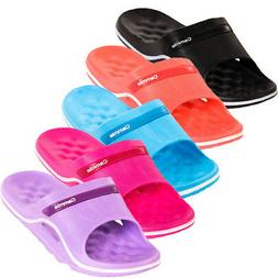 Womens Slip On Sandals Cushioned Shower Water Pool Slides