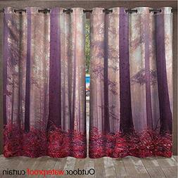 WilliamsDecor Woodland Outdoor Balcony Privacy Curtain Color