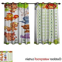 Word Search Puzzle Home Patio Outdoor Curtain Rebus Game wit